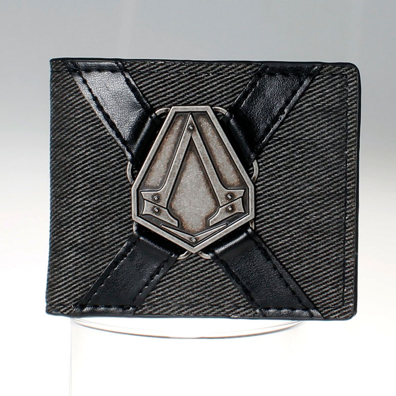 Assassins Creed Logo black  Bi-Fold Wallet DFT-1522 leeshang marvel captain america bi fold wallet dft 1007a for dft 1995 fold mini small wallet
