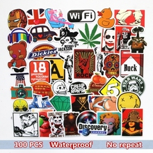 100st / set Graffiti Sticker Bil Styling Skateboard Roliga Cartoon Vinyl Dekaler för Decor Laptop Toy Kids DIY Gulliga Klistermärken