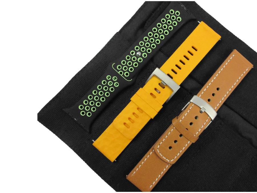 Bracelet de montre organisateur bracelet de montre portable sac de rangement pour Garmin Samsung Apple Suunto Quartz & bracelet mécanique pochette de voyage