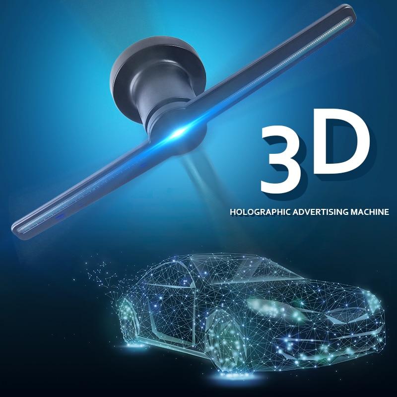 AC 100-240V Plug-in 3D Hologram Projector Light Advertising Display LED Fan Holographic Imaging Lamp 3D Remote Hologram Player