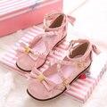 Japanese Harajuku Kawaii Bowtie & Straps  Chunky Heels Sweet Lolita Shoes