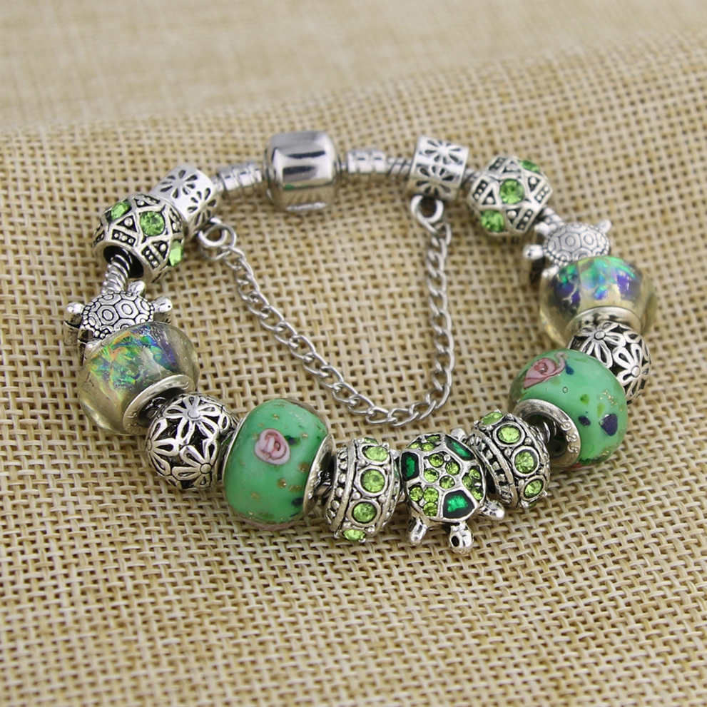 KEORMA Trendy Perhiasan Antik Warna Silver Sea Turtle Wanita Charm - Perhiasan fashion - Foto 2