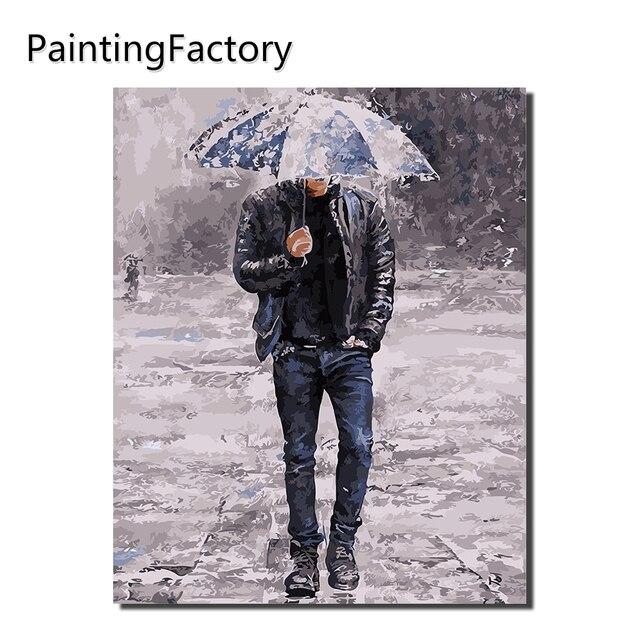 PaintingFactory Trang Trí Nội Thất tường nghệ thuật Kỹ thuật Số Tranh Sơn Dầu By Numbers Tóm Tắt Bản Vẽ Hình Acrylic Vải Người Đàn Ông ô