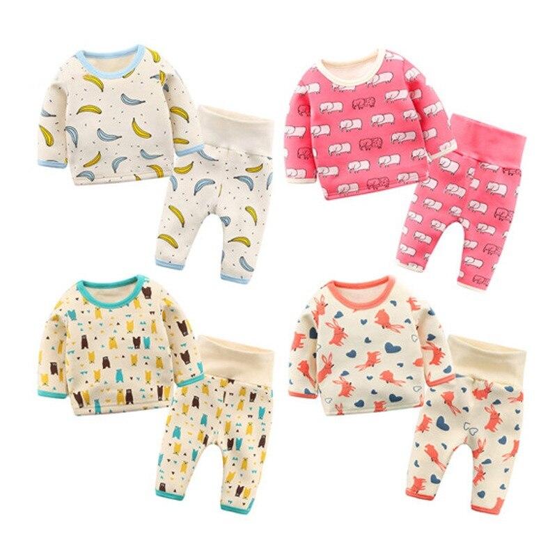 149437e2c5a1f5 Lemonmiyu Dziecko Bawełna Piżamy Ustawia 2 sztuk/zestaw 0-24 m T shirt +