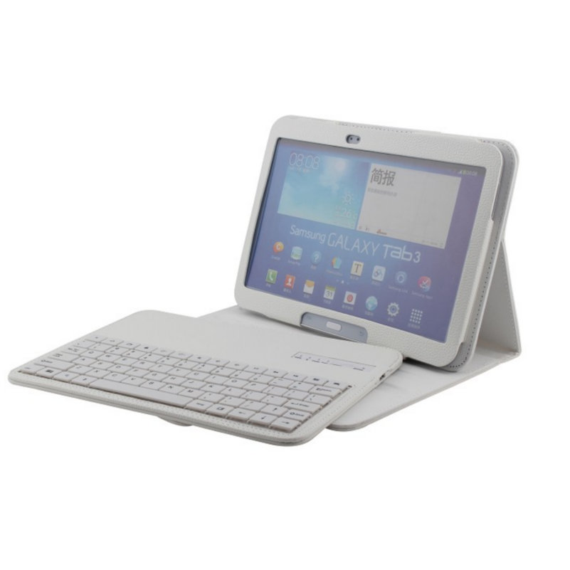 Wireless Bluetooth Keyboard Tablet Case For Samsung Tab.3 10.1 P5200 T530 English Russian Language Keyboard Stand Case Cover new detachable official removable original metal keyboard station stand case cover for samsung ativ smart pc 700t 700t1c xe700t
