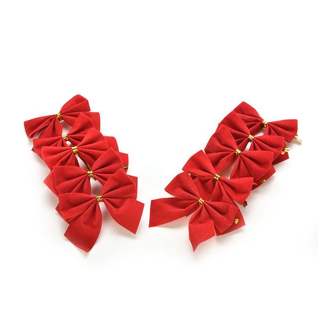 12pcs Christmas Tree Bowknots Ornament