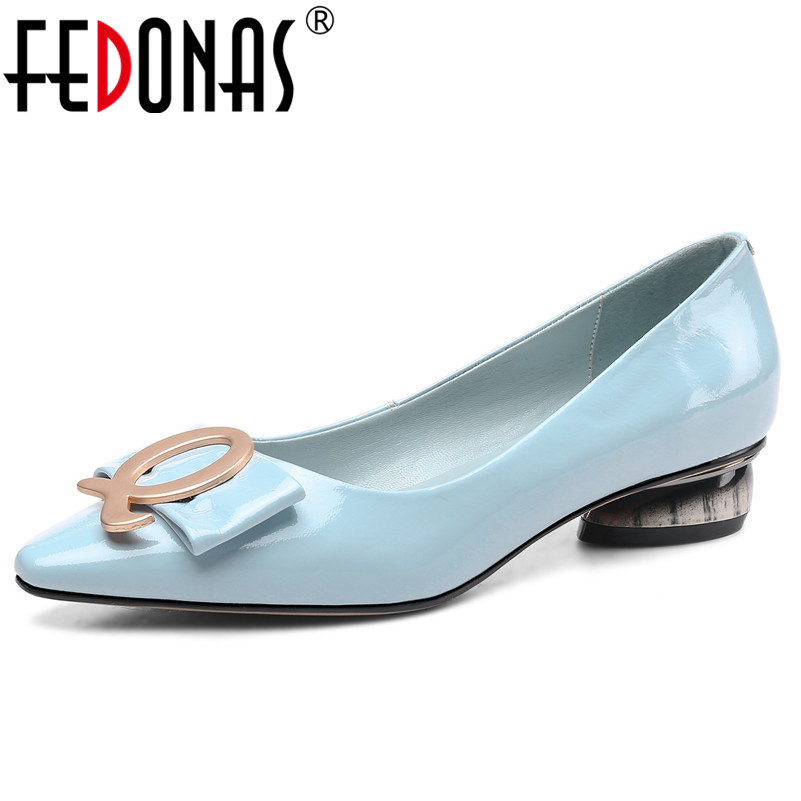 FEDONAS 2019 Pointed Toe Elegant Retro Women Pumps New Classic Design Soft Leather Office Shoes Spring