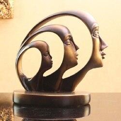 2016 acessórios para casa de Resina enfeites de Resina Criativo Artesanato beleza rosto decoração manualidades resinas resinas resina estátuas