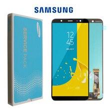 6.0 SUPER AMOLED do SAMSUNG Galaxy J8 2018 wyświetlacz dotykowy wymiana ekranu dla Galaxy J810 J810F SM J810F wyświetlacz LCD