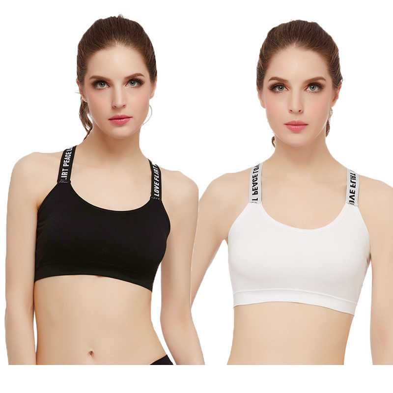 778d2c541d2 Push Up Sports Bras For Women Seamless Top Fitness Y Strap Gym Running Padded  Bra Athletic