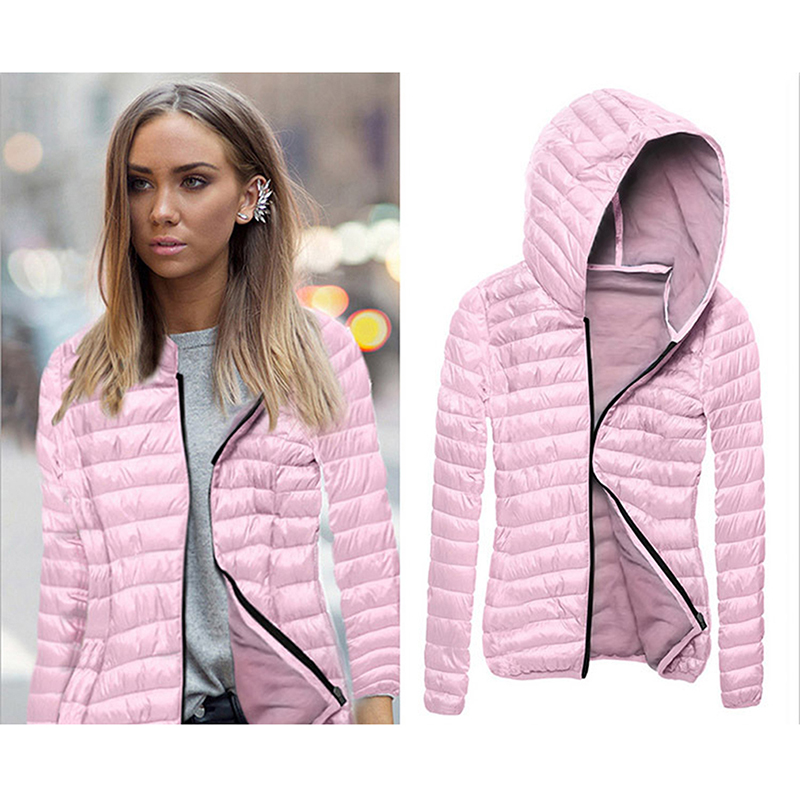 New Spring Thin Women Coat   Jacket   Hooded Casual Coat Women Fashion Outerwear Autumn Spring Zipper Parkas   Basic     Jackets   Coat