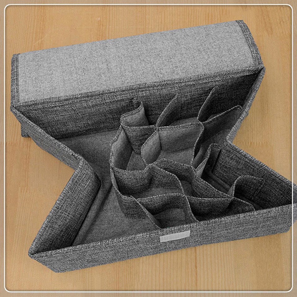Msjo Organizer Storage Box For Underwear Foldable Drawer Organizer 13 Grid Oxford Home Closet Storage Socks Ties Lingerie Box