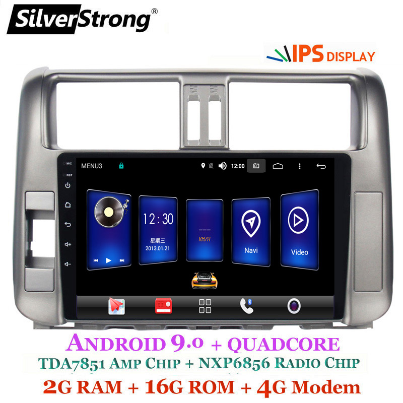 Sale SilverStrong IPS 9inch Android9.0 4G modem Car DVD for Toyota Land cruiser Prado 150 LC150 GPS 2010 2011 2012 2013 Radio no DVD 5