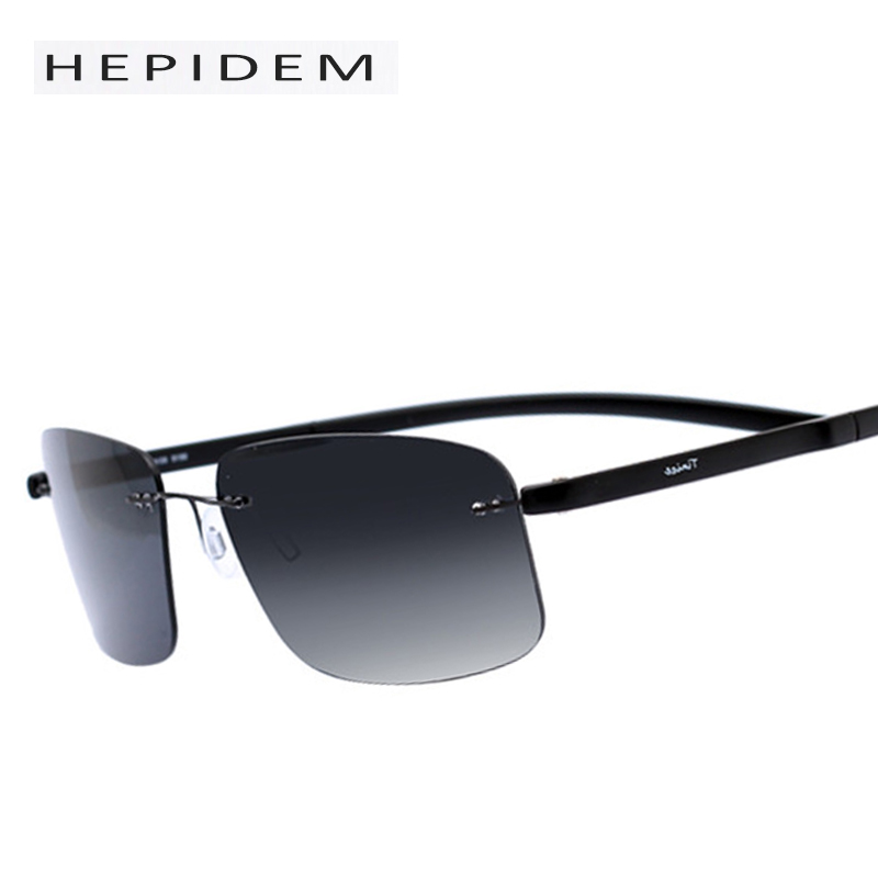 ?2017 New Fashion Rimless Rimless Sun Glasses Titanium ...