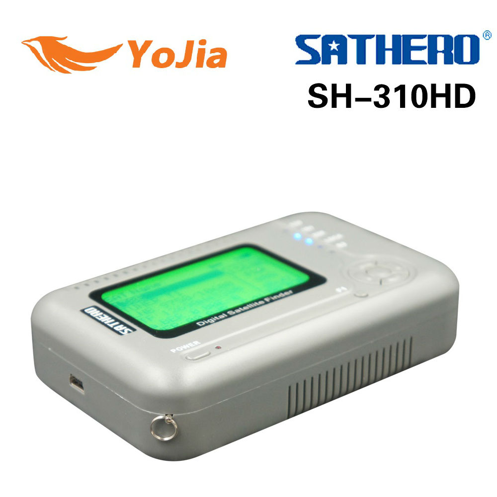 Yojia Genuine SATHERO SH-310HD Digital Satellite Finder DVB-S2 & DVB-T2 Combo Signal Finder DVB-S Satfinder DVB-T Signal Meter satlink ws 6979se satellite finder meter 4 3 inch display screen dvb s s2 dvb t2 mpeg4 hd combo ws6979 with big black bag