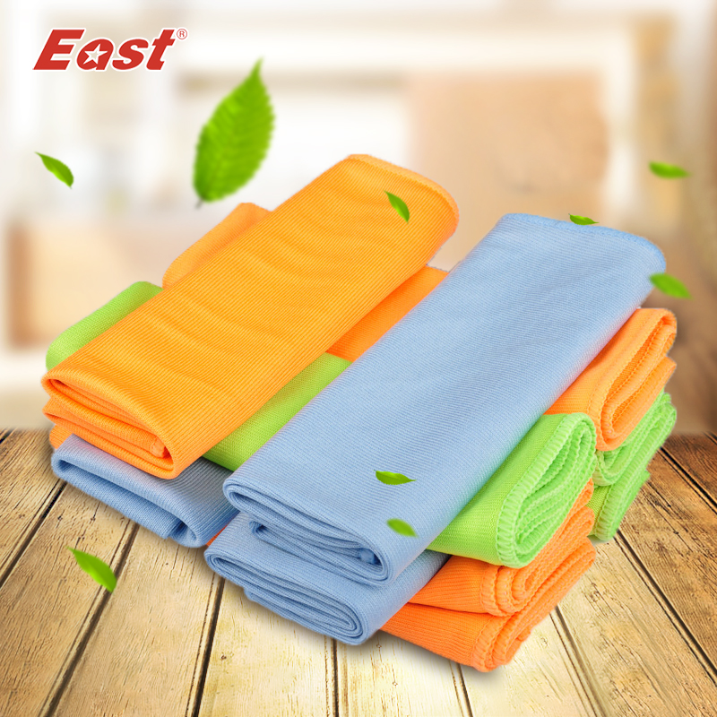 East 5 pcs 30x40cm microfiber glass towel window for Glass cleaning towels