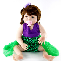 NPK 23 Full Body Silicone Reborn Baby handmade lol vinyl toddlers reborn dolls collectible reborn bonecas kids gift doll toys
