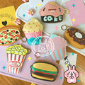 2017 New Arrival Promotion Long Cute Hamburgers With Pockets Cakes Donut Funny Purse Purses And Handbags Girl Student's Obag