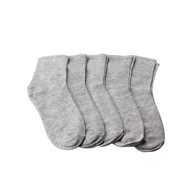 5 Pair High Quality Men Ankle Socks Men's Cotton Low Cut Socks One Size Men Socks Grey Calcetines Hombre #40