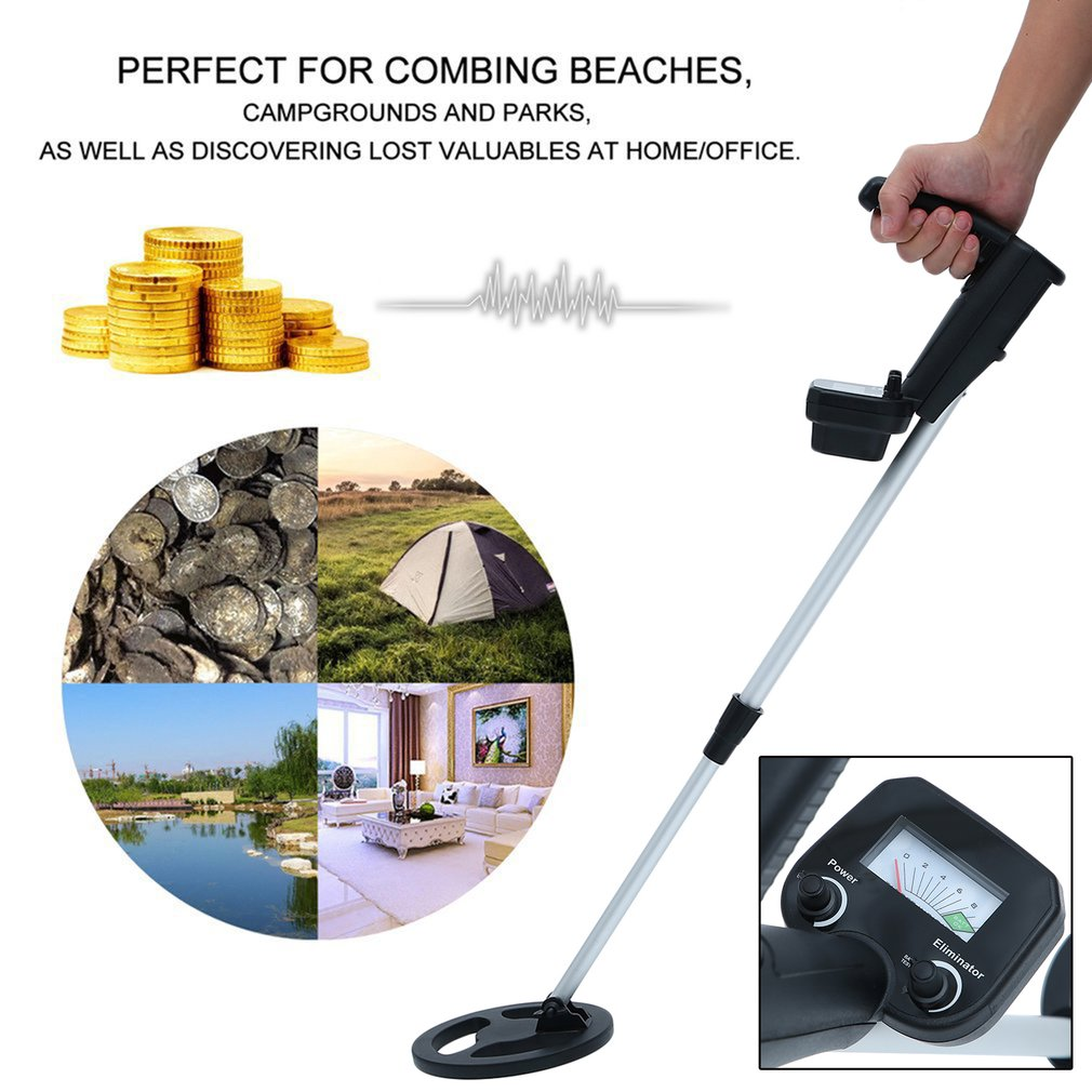 Metal-Detector Gold LCD With Headphone Hunter-Finder-Sensor Lcd-Screen Treasure Underground