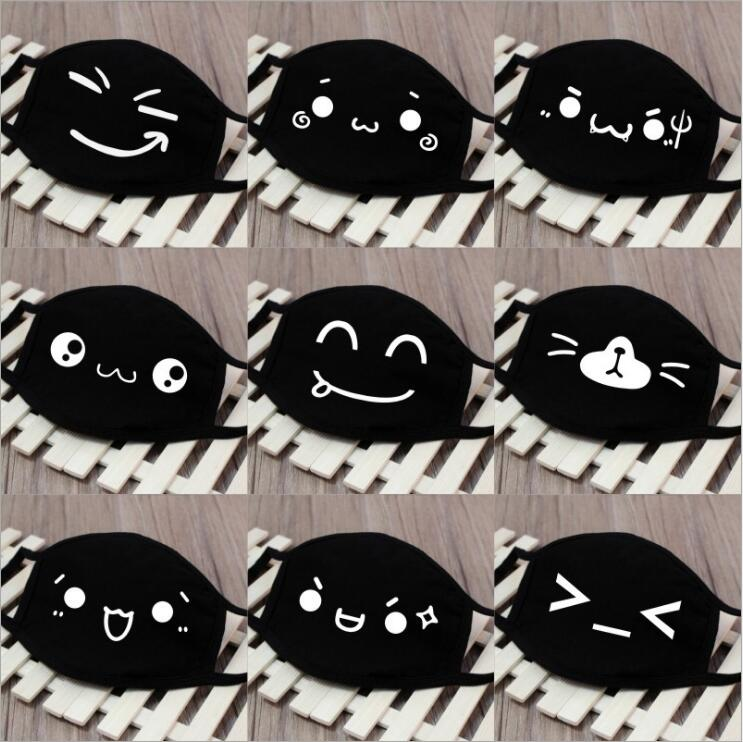 1PC Smile Style Winter Warm Mouth Mask 10 Styles Men And Women New Cotton Fashion Black Riding Dust Cold Thickening Mouth Mask