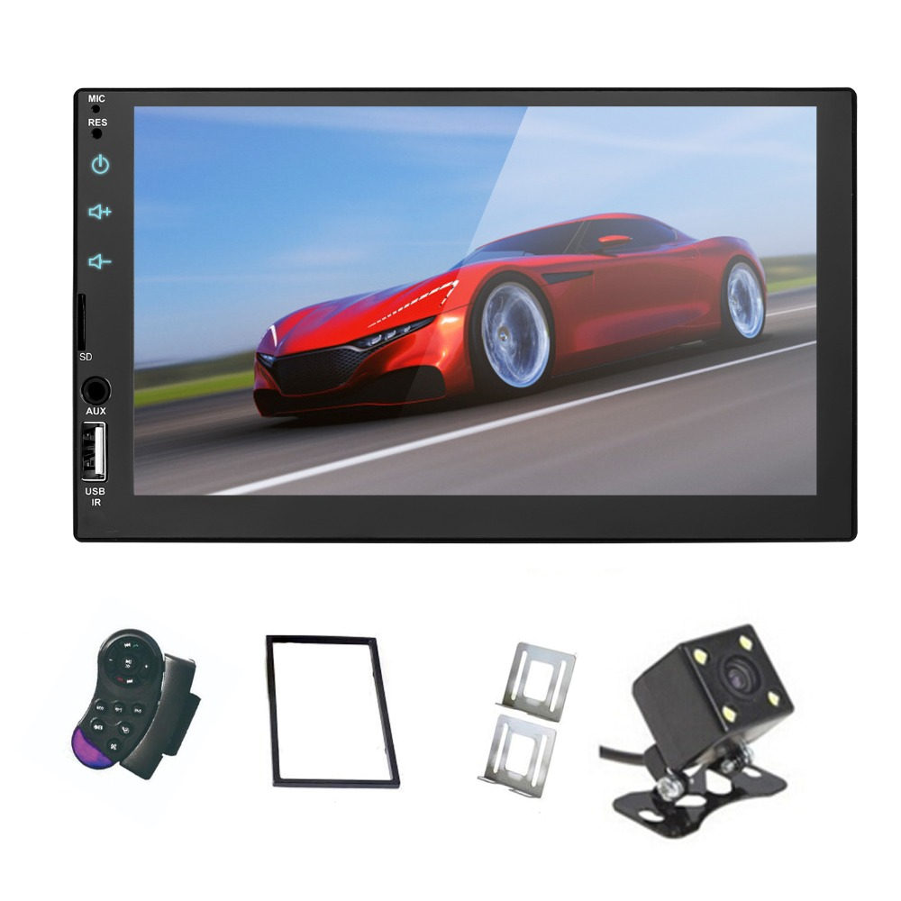 Mirror Link 2 din 7' Car Radio Capacitive Touch Screen Player MP5 SD/FM/USB/AUX/Bluetooth Car Audio For Rear View Camera(China)