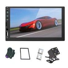 Mirror Link 2 din 7 'автомобильный Радио Емкостный сенсорный экран плеер MP5 SD/FM/USB/AUX/Bluetooth автомобильный аудио для камеры заднего вида