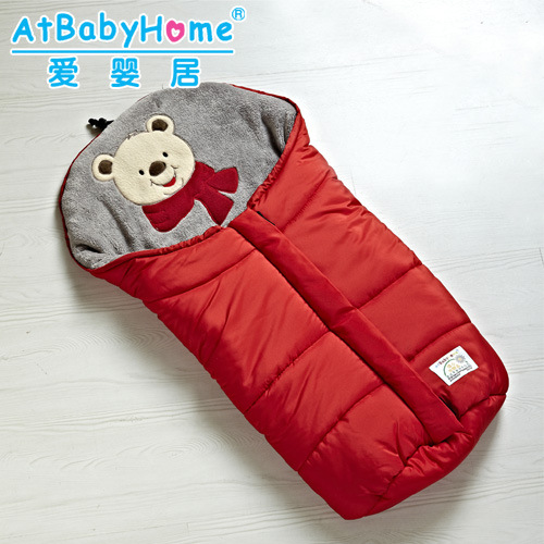 Baby Sleeping Bag Bear Winter Envelope for Newborns Sleep Thermal Sack Cotton Kids Sleepsack Carriage Wheelchairs Chlafsack 98 98cm baby stroller sleeping bag 3 colors cartoon bear fall winter warm sleepsacks newborn envelope for kids boys girls pram