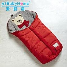 Baby Sleeping Bag Winter Envelope for Newborns Sleep Thermal Sack Cotton Kids Sleepsack In The Carriage Wheelchairs Chlafsack