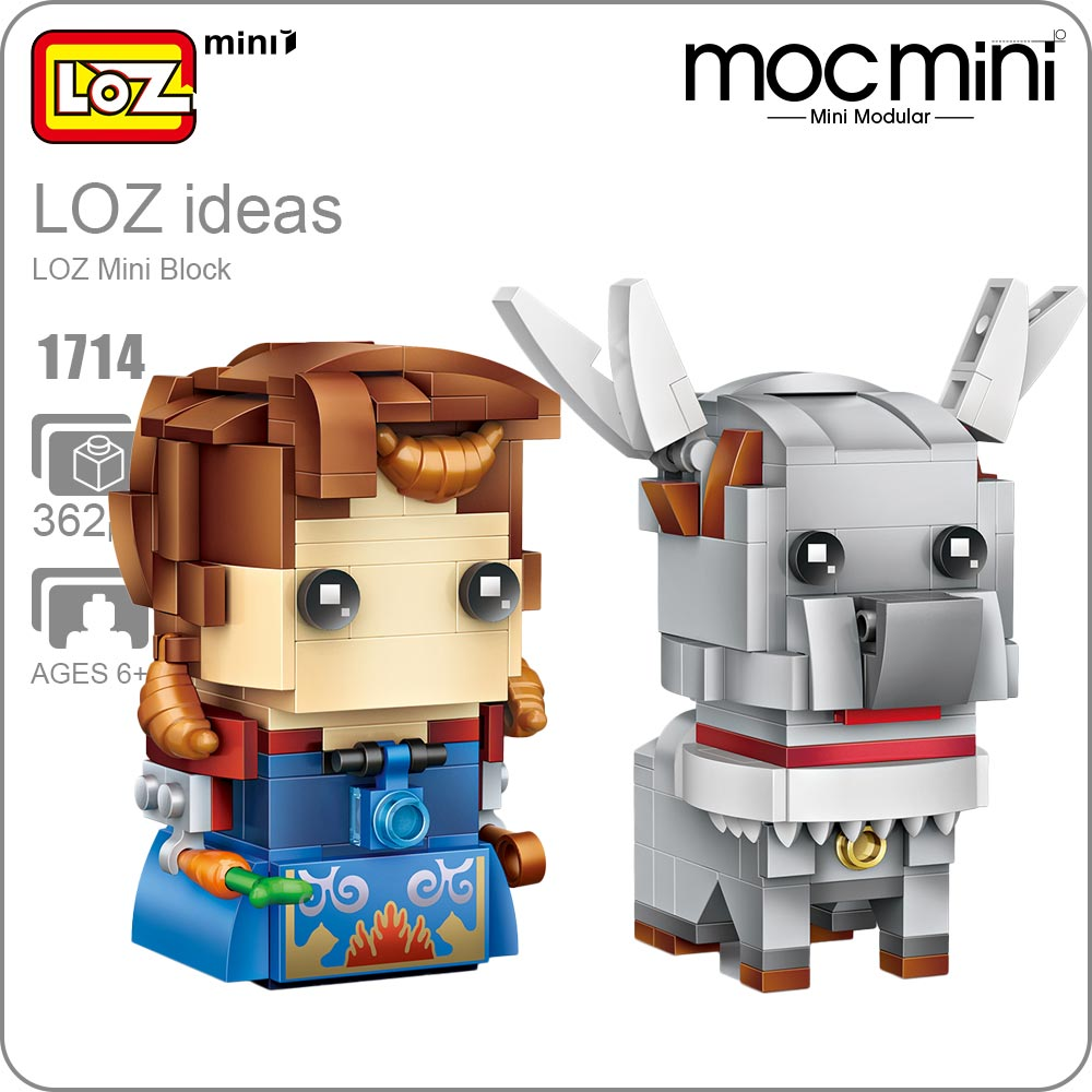 LOZ Mini Blocks Bricks Toys For Children Reindeer Anime Action Building Blocks Figure Girls Figurines Assembly Princess DIY 1714 loz diamond blocks dans blocks iblock fun building bricks movie alien figure action toys for children assembly model 9461 9462