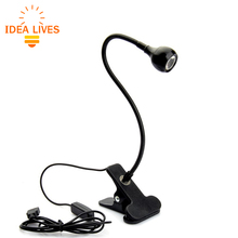 LED Desk Lamp with Clip 1W Flexible LED Reading Lamp USB Power Supply LED Book Lamp.