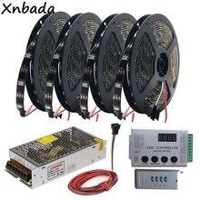 все цены на WS2812B WS2812 RGB Led Strip Light Tape HC008 Programmable RGB Led Pixel Controller 133Effect Modes DC5V Led Transformer Kit онлайн