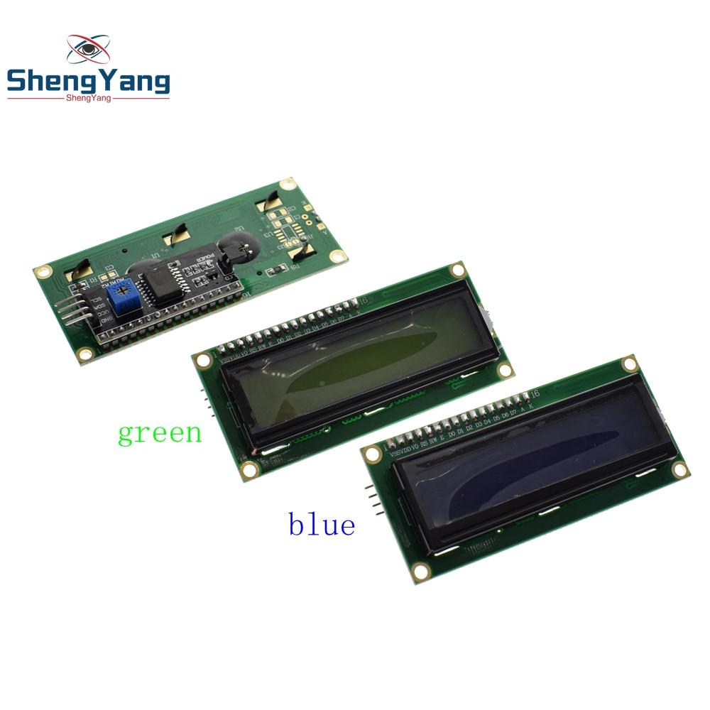 TZT ShengYang I2C LCD 1602 Module Blue Green Screen IIC/I2C