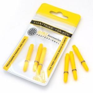 CUESOUL Pack of 6 Durable Polyethylene Dart Shafts,Short-Yellow Dart Shaft