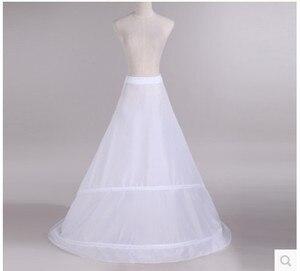 Image 2 - Novia Enaguas Underskirt Wedding Skirt Slip Wedding Accessories Chemise  2 Hoops For A Line Tail Dress Petticoat Crinoline 039