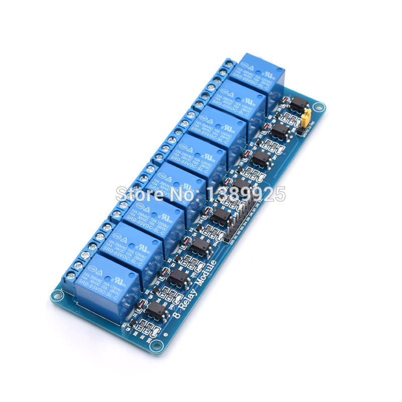 Free Shipping 10PCS/LOT 5V 8 Channel Relay Module Board