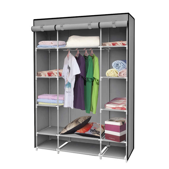 Placeholder Clothe Storage Wardrobe Simple Portable Cloth Closet New Fashion Sundries Cabinet Dust Proof Clothes