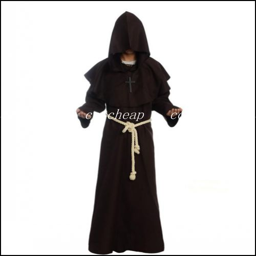 Monk Robe Costume Wizard Costume Medieval Monks Costume Christian Costume