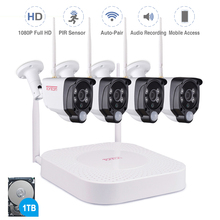 Tonton Draadloze Cctv systeem 1080P 1 Tb Hdd 2MP 8CH Nvr Video Surveillance Audio Opname Pir Sensor Outdoor Cctv camera Kit