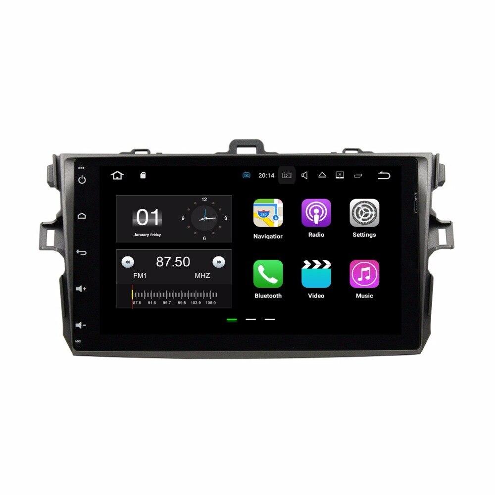 4 ядра 9 &#171;Android 7.1 dvd-плеер автомобиля для Toyota Corolla 2006 2007-2011 с 2 ГБ Оперативная память Радио GPS WI-FI <font><b>Bluetooth</b></font> USB 16 ГБ Встроенная память