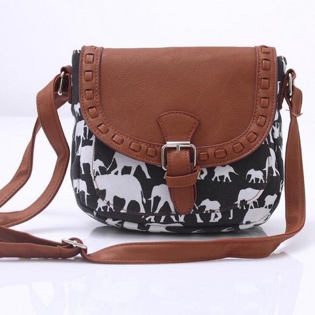 Canvas Printed Women Travel Messenger Bag Small Shoulder Bag Casual Sling Bag