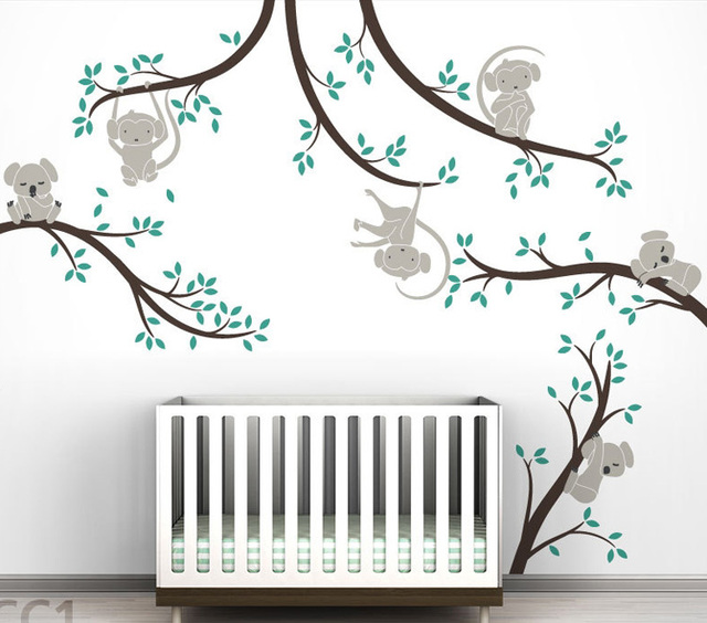 Koala baby wall decor monkey