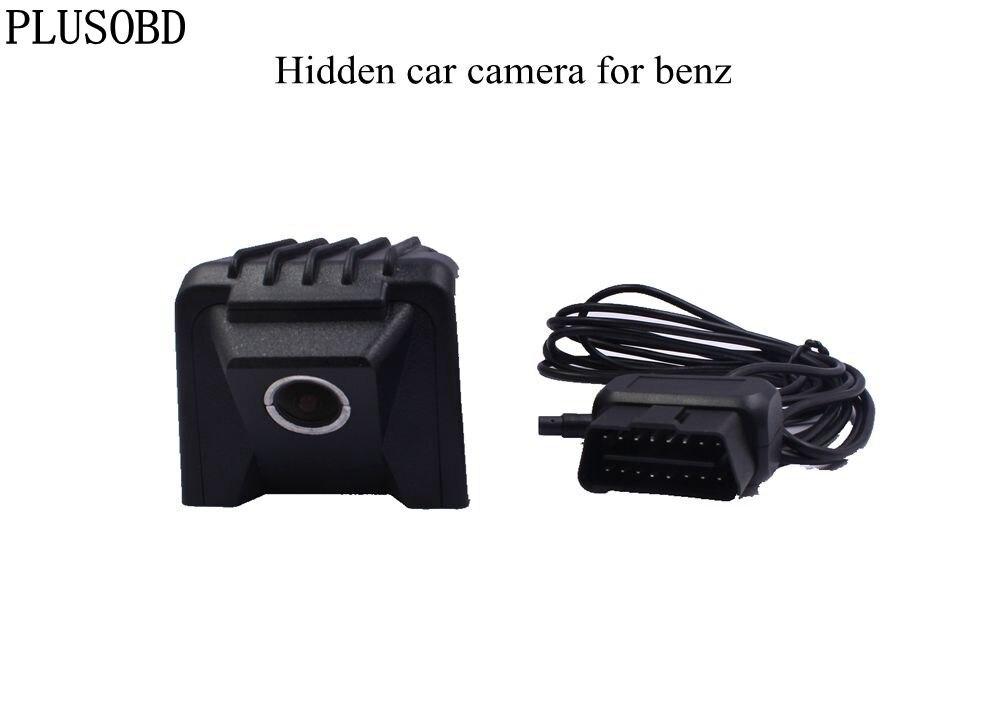 PLUSOBD Hidden Car DVR Video Recorder HD 1080P Wifi APP 170 Degree NT96655 Night Vision For Mercedes benz W169/W245 2007-2012 for honda accord car dvr auto video recorder hd 1080p wifi hidden installation gsensor night vision car camera recorder