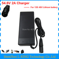 54 6V 2A Charger 13S 48V Li Ion Battery Charger XLRM Connector Output DC 54 6V