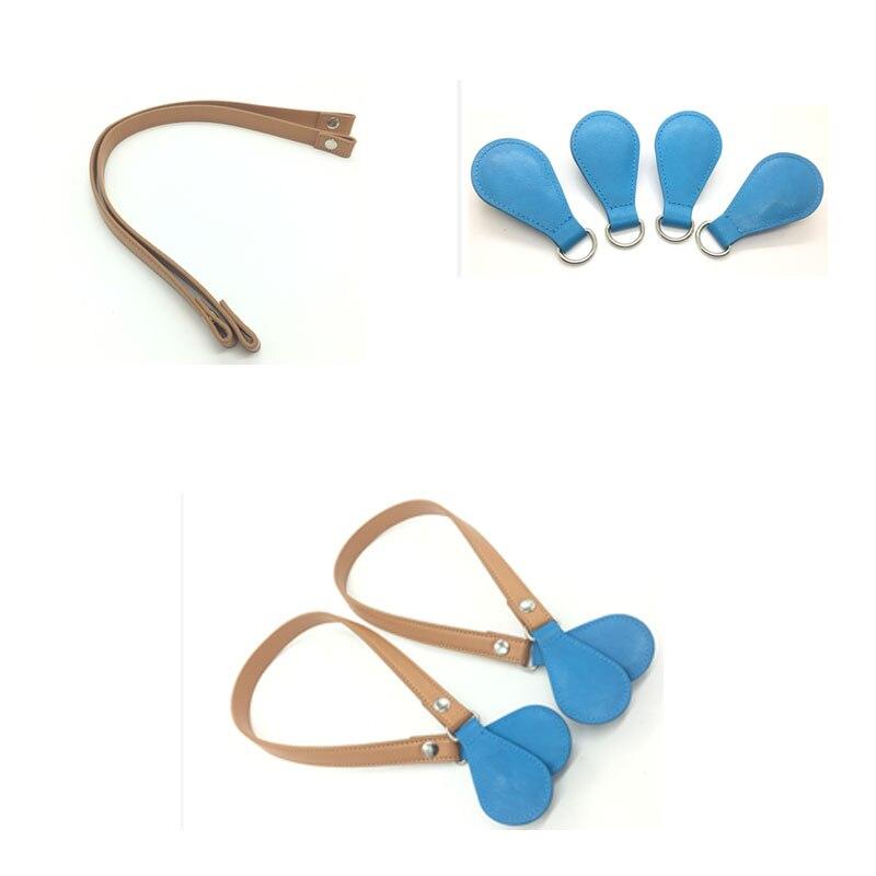 brown color changable drops Handle Removable Drop End for O Bag women bag handbag