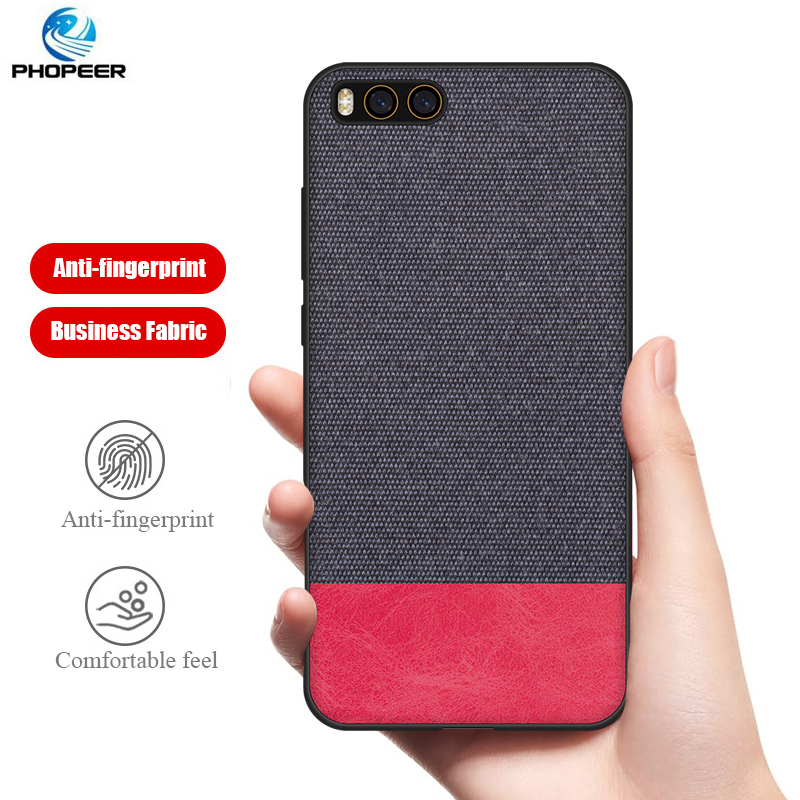 PHOPEER Case for Xiaomi Mi Note 3 soft silicone edge fashion fabric shockproof back cover case for xiaomi mi Note3 in Fitted Cases from Cellphones Telecommunications