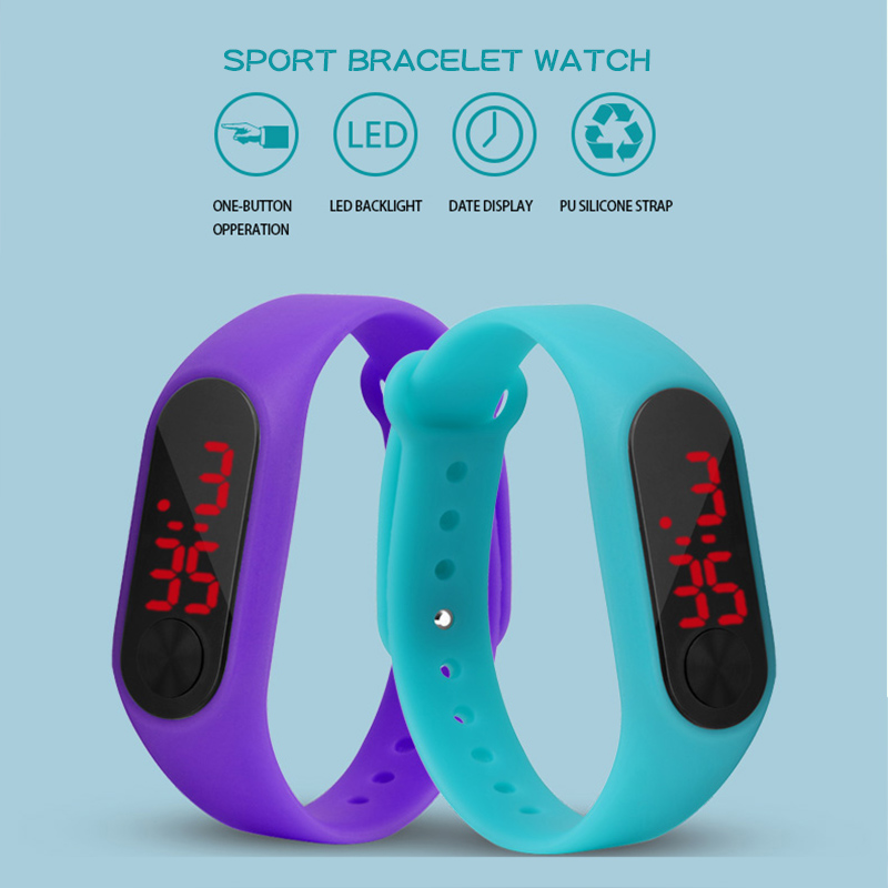 Kid Watch Children Digital Sport Fitness Watch Student Silicone Children Wrist Watch Bracelet For Boys Girls Gift Montre Enfant