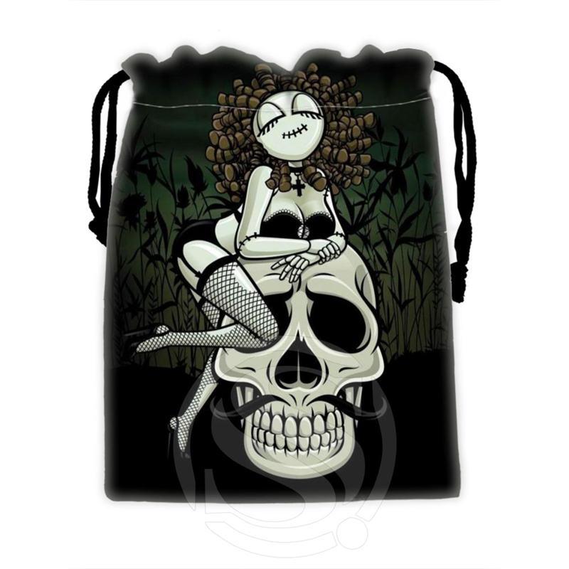 Creative Custom Skull #10 Drawstring Bags For Mobile Phone Tablet PC Packaging Gift Bags18X22cm SQ00715-@H0351