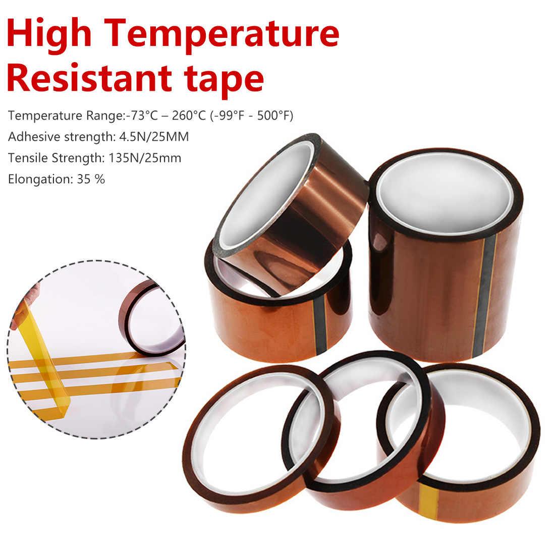 Высокая Температура устойчивостью клейкие ленты тепла посвящена 8 10 15 20 25 30 35, 40 50 100 мм для 3d принтом полиимидная лента