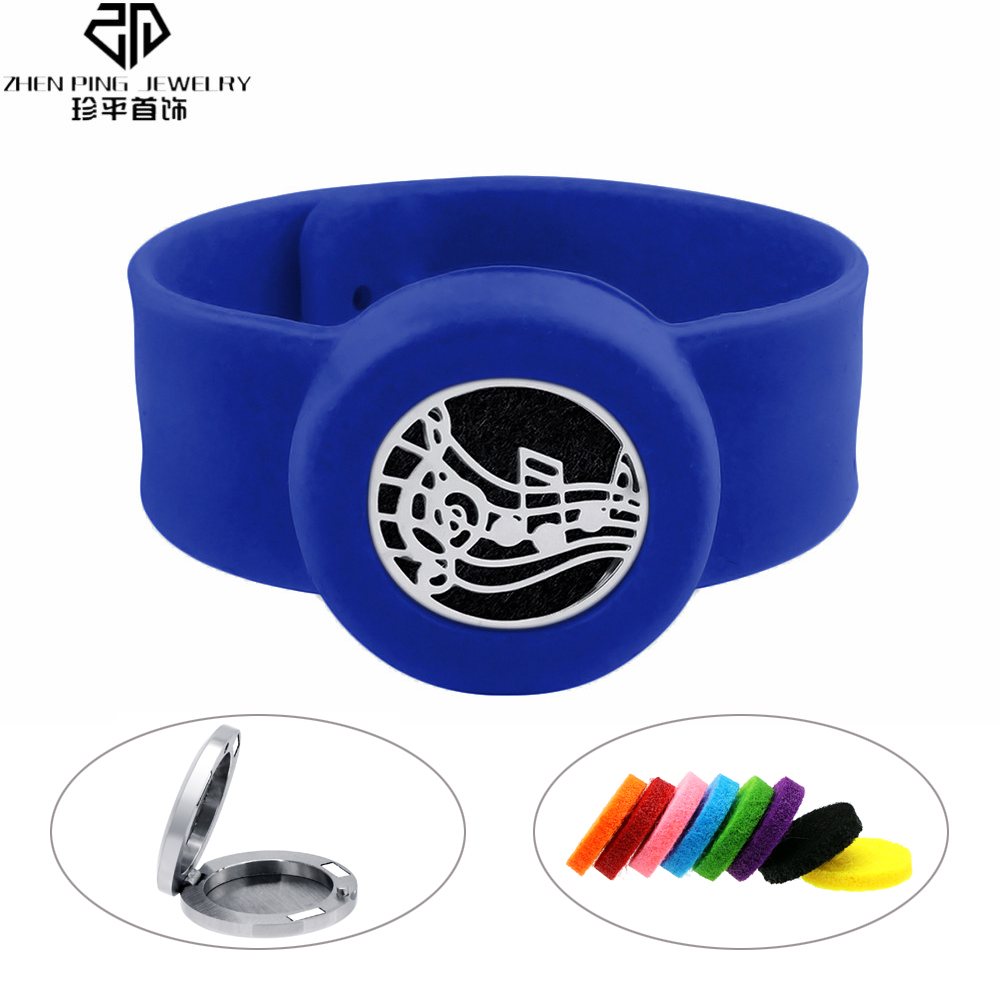 Blue Children Silicone Bracelets Fashion 316L Stainless Steel Mosquito Repellent Bracelet for Men Women